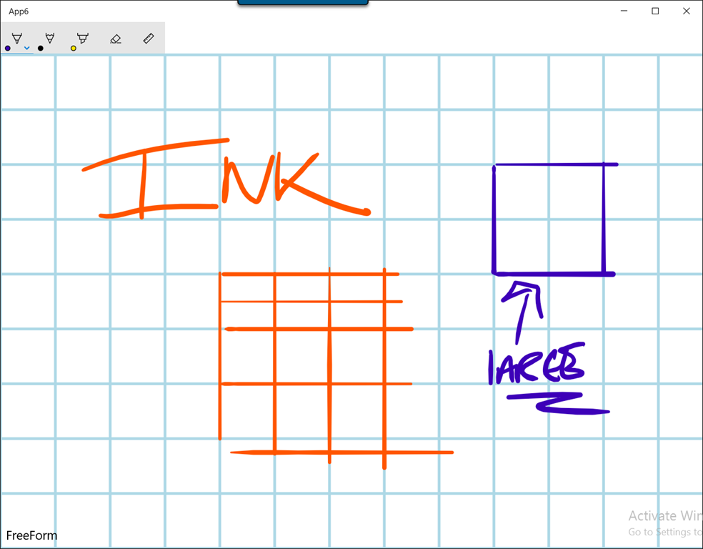 how to draw a grid on a canvas